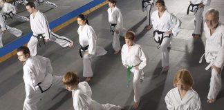 Martial arts class.