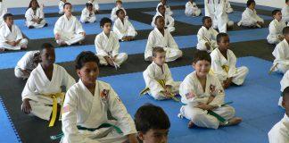 Martial arts kids class.