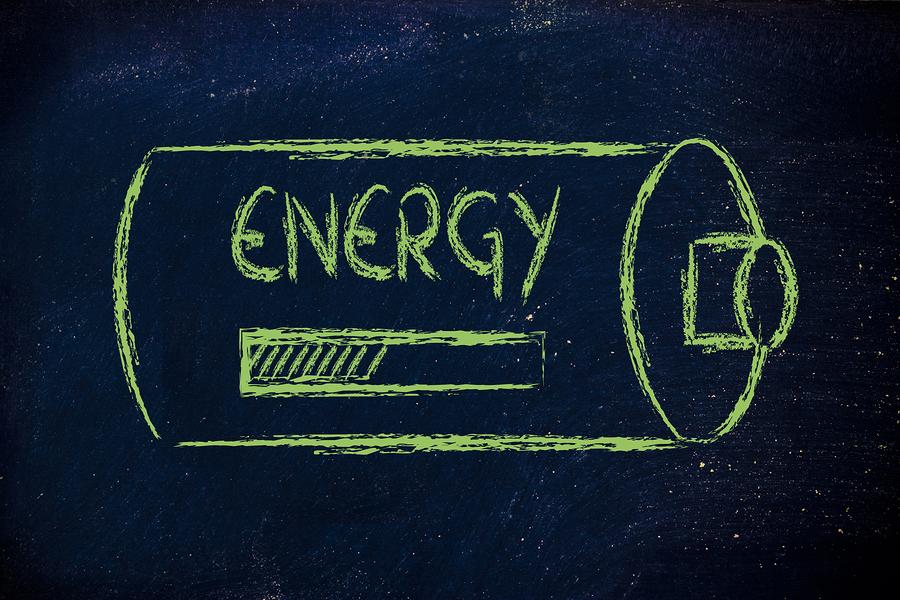 conceptual design on blackboard battery energy loading
