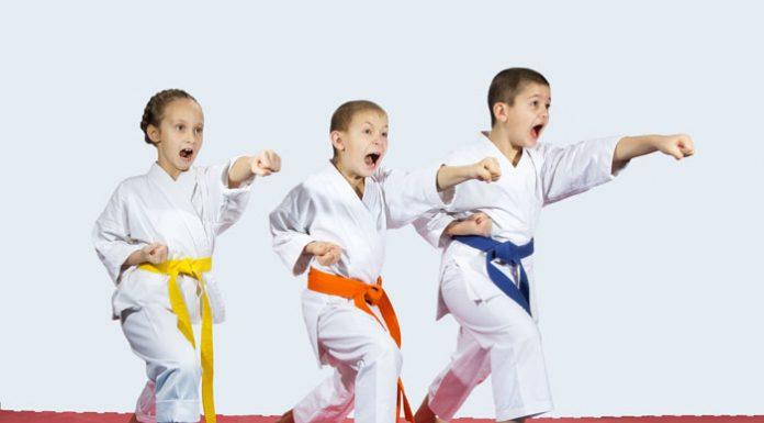 martial arts kids yelling