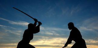 Samurai sword fight