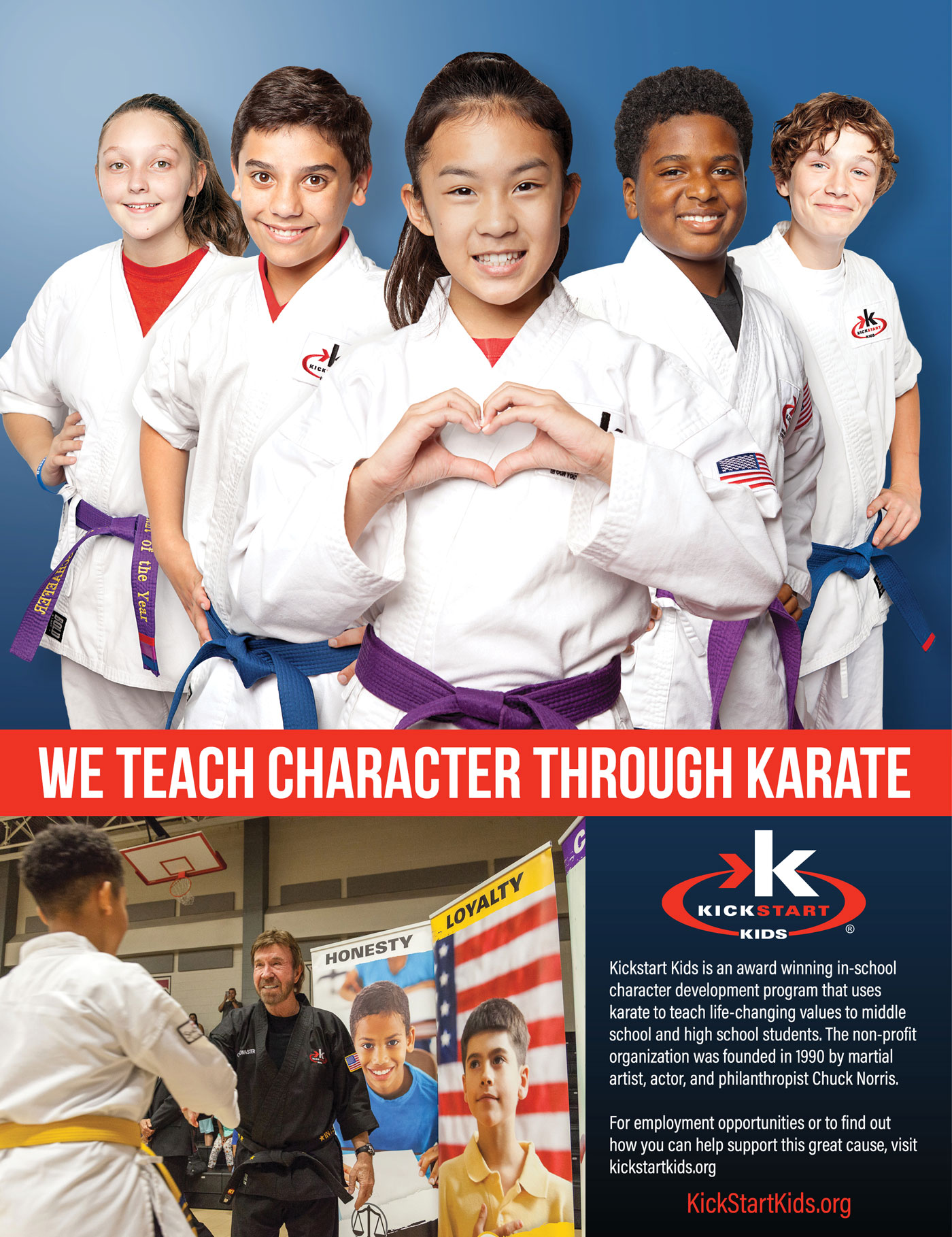 Kick Start Kids founded by Chuck Norris