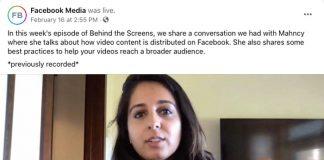 Facebook video content