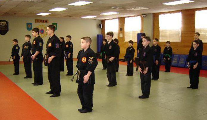 Alberigo's students at attention