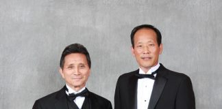 Grandmaster Y. K. Kim with Grandmaster jin Kwon